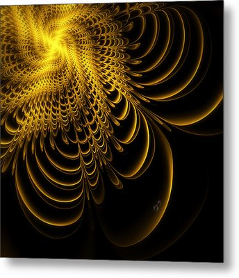 Gold Lame' Metal Print by Karla White