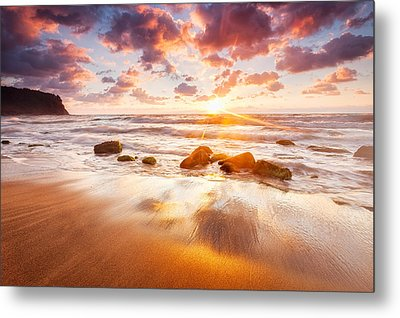 Golden Beach Metal Print by Evgeni Dinev