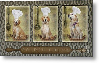 Golden Chef's Metal Print by Susan Candelario