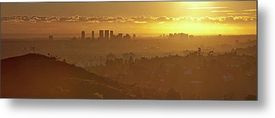 Golden City Metal Print by Eric Lo