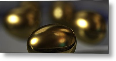 Golden Eggs Metal Print