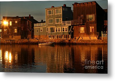 Golden Evening Metal Print by Adrian LaRoque