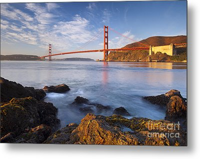 Golden Gate At Dawn Metal Print by Brian Jannsen