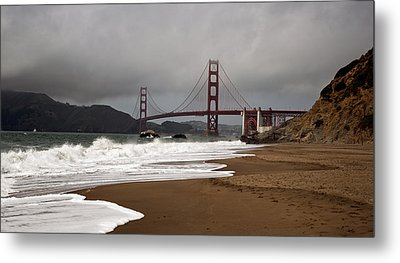 Metal Print featuring the photograph Golden Gate Bridge by Gary Rose