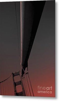 Golden Gate Bridge San Francisco 3 Metal Print by Design Remix