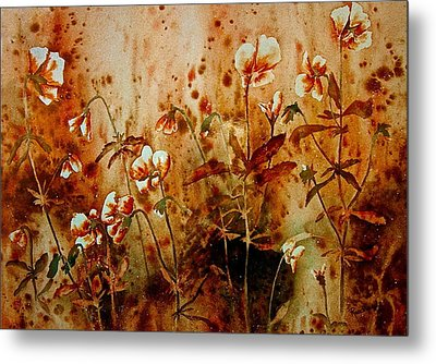 Golden Hues Metal Print by Carolyn Rosenberger