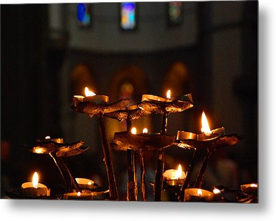 Metal Print featuring the photograph Golden Lights by Dany Lison