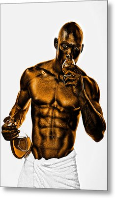Golden Man Metal Print