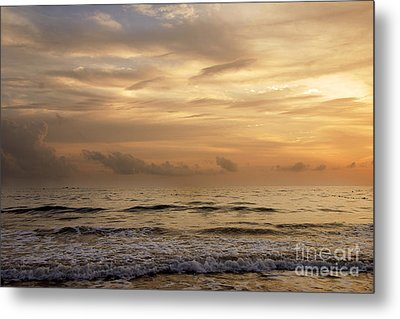 Golden Sea Metal Print