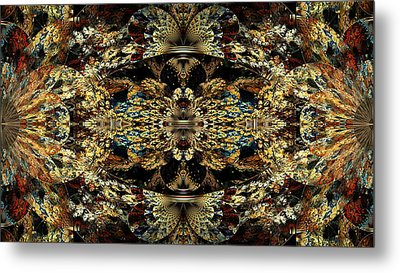 Golden Split Crop Metal Print by Peggi Wolfe