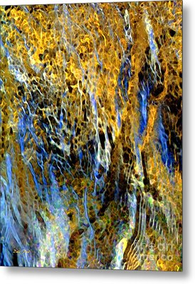 Golden Weeping Willow Metal Print by Dale   Ford