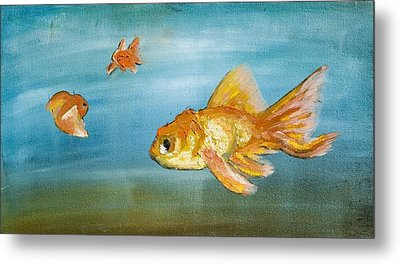 Goldfish Metal Print by Anthony Cavins