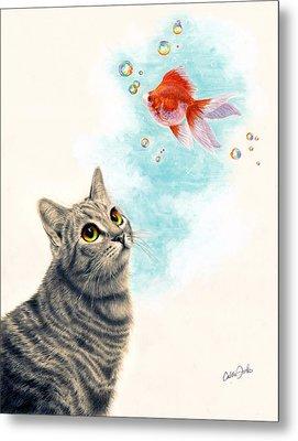 Goldfish Dreams Metal Print by Callie Fink