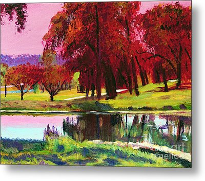 Golf Course Dawn Plein Air Metal Print