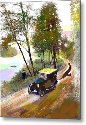 Gone Fishing Metal Print by Charles Shoup