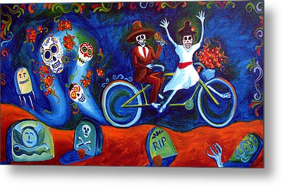 Gone With The Wind Day Of The Dead Metal Print