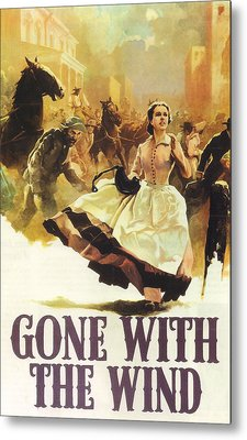 Gone With The Wind Metal Print by Georgia Fowler