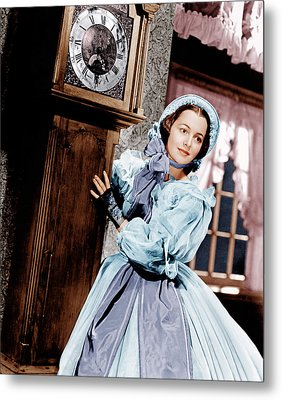 Gone With The Wind, Olivia De Metal Print