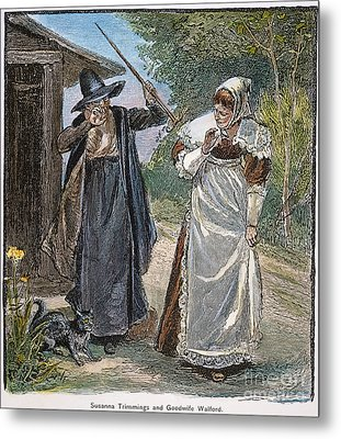 Goodwife Walford, 1692 Metal Print by Granger