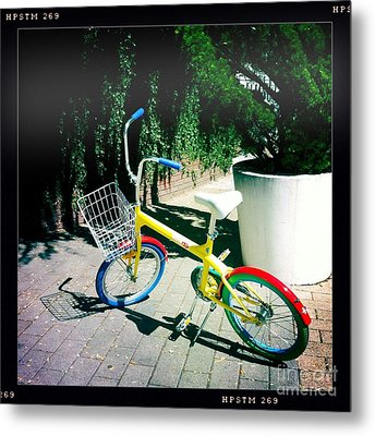 Metal Print featuring the photograph Google Mini Bike by Nina Prommer