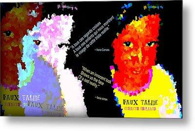 Google The Word - Talibe Metal Print by Fania Simon