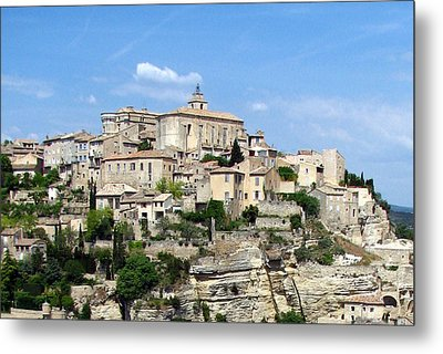 Gordes In Provence Metal Print by Carla Parris