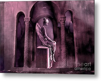 Gothic Fantasy Surreal Angel In Mourning Metal Print by Kathy Fornal