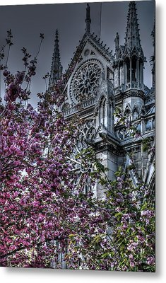 Gothic Paris Metal Print by Jennifer Ancker