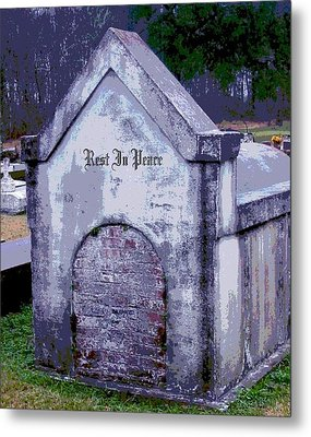 Gothic Rest In Peace Metal Print by Marian Hebert