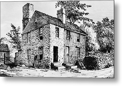 Governor Caleb Carr House. A House Metal Print by Everett