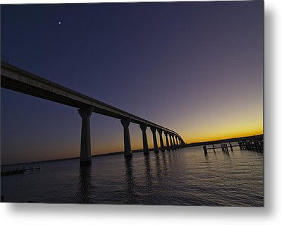 Metal Print featuring the photograph Governor Thomas Johnson Bridge by Kelly Reber