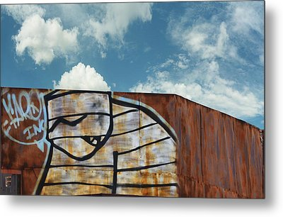 Graffiti Monster Metal Print by Nikki Marie Smith