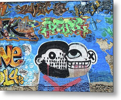 Metal Print featuring the photograph Graffiti Provence France by Dave Mills