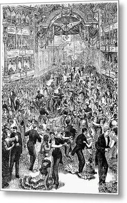 Grand Ball, New York, 1877 Metal Print by Granger