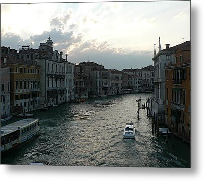 Metal Print featuring the photograph Grand Canal At Dusk by Laurel Best