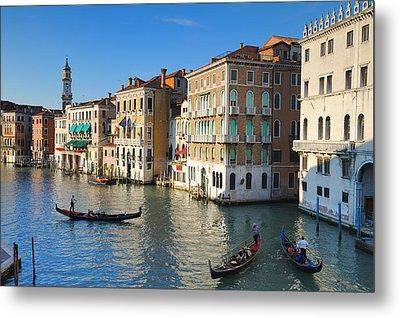 Grand Canal From Rialto Bridge, Venice Metal Print by Chris Hepburn