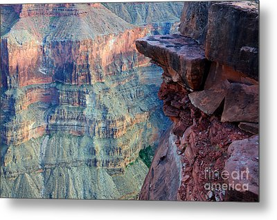 Grand Canyon A Place To Stand Metal Print by Bob Christopher