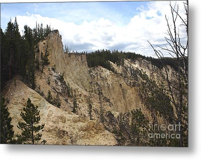 Grand Canyon Cliff In Yellowstone Metal Print by Living Color Photography Lorraine Lynch