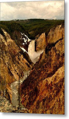 Grand Canyon Of The Yellowstone Metal Print by Ellen Heaverlo