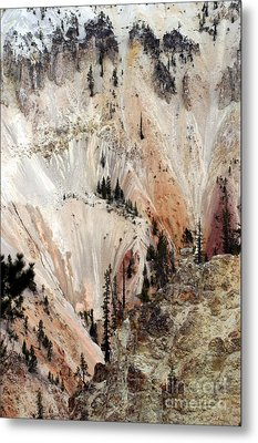 Grand Canyon Of Yellowstone Vertical Metal Print by Living Color Photography Lorraine Lynch