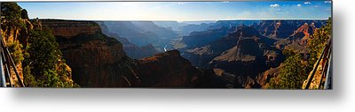 Grand Canyon Sunset Panorama Metal Print by David Waldo