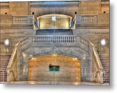 Grand Central Terminal East Balcony I Metal Print by Clarence Holmes