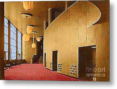 Grand Foyer In The Center Theatre In New York City 1940 Metal Print by Dwight Goss