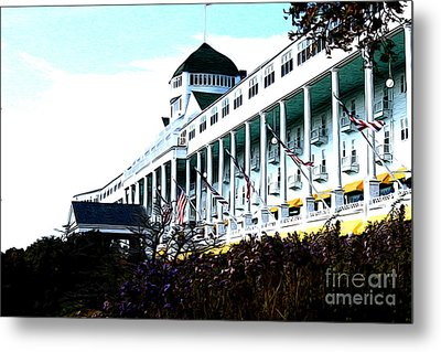 Metal Print featuring the photograph Grand Hotel Mackinac Island by Anne Raczkowski