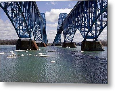 Grand Island Bridges Metal Print by Darleen Stry
