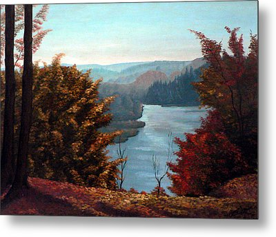 Grand River Look-out Metal Print by Hanne Lore Koehler