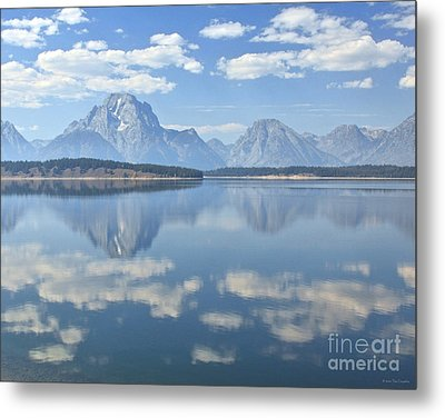 Grand Teton National Park Mountain Lake Reflctions Metal Print