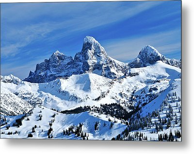 Grand Teton Winter Metal Print by Greg Norrell