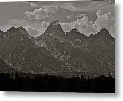 Metal Print featuring the photograph Grand Tetons by Eric Tressler