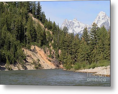 Grand Tetons From Snake River Metal Print by Living Color Photography Lorraine Lynch